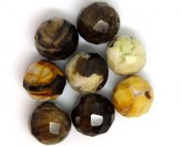 PETRIFIED WOOD BEADS, (8 PC) 64.5 CTS  NP-1198