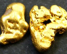 TWO AUSTRALIAN GOLD NUGGETS  .47 GRAMS  LGN 304