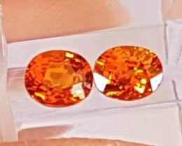 1.94cts  Spessartite,  Mandarin,  Untreated Vivid Stone,  Clean