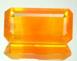 5.68 Cts Natural Mexican Orange Fire Opal Octagon Cut