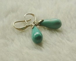 Natural Turquoise Gemstone Earrings handmade earings ,customizable(mgg TOP1