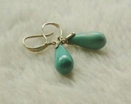 Natural Turquoise Gemstone Earrings handmade earings ,customizable(mgg TOP1