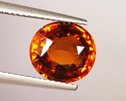 """4.50 Ct """" IGI Certified """" Marvelous Orange Oval Cut Natural Hesso"""