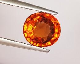 "4.36 Ct "" IGI Certified "" Collective Orange Oval Cut Natural Hess"