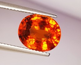 "5.15 Ct "" IGI Certified "" Collective Orange Oval Cut Natural Hess"