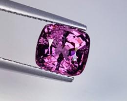 "2.64 ct ""IGI Certified"" Fantastic Pinkish Purple Cushion Cut Natu"