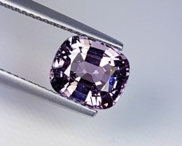 "2.83 ct ""IGI Certified"" Exclusive Greyish Pink Cushion Cut Natura"