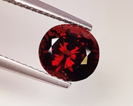 "2.50 ct "" IGI Certified ""Beautiful Red Round Cut Pyrope Almandite"