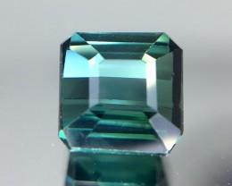 1.10 Crt Indicolite Touramline Faceted Gemstone (R 171)