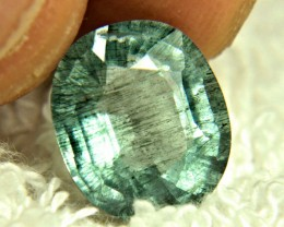6.08 Carat Rutile Blue Green Beryl - Fascinating