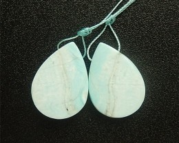 52ct Fashion  Water drop Larimar Earring Pair(18042405)