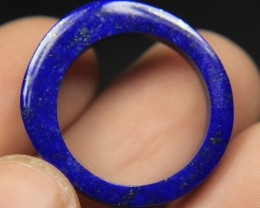 Natural Color Lapiz Lazuli Ring For Unisex