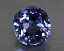Natural purplish blue tanzanite.