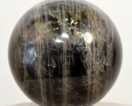 44mm Black Moonstone Sphere Sparkling Feldspar Crystal Madagascar BMSAA247