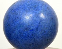 "2.1"" Blue Dumortierite Quartz Crystal Mineral Sphere Ball Peru DMPA392"