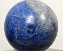 51mm Blue Dumortierite Quartz Crystal Mineral Sphere Ball Peru DMPA393