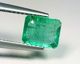 1.31 ct Awesome Green Emerald Cut Natural Emerald