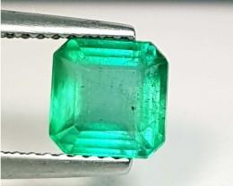 1.42 ct Top Grade Green Square Cut Natural Emerald