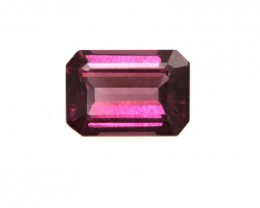1.24cts Natural Rhodolite Garnet Emerald Cut