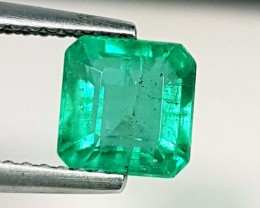 1.60 ct Top Quality  Green Square Cut Natural Emerald