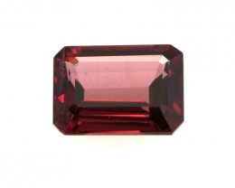 1.38cts Natural Rhodolite Garnet Emerald Cut