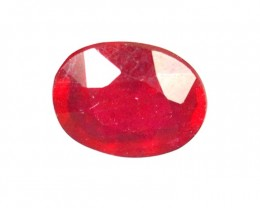 2.57Cts Madagascar Natural Oval Red Ruby Gemstone