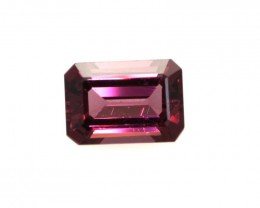 1.15cts Natural Rhodolite Garnet Emerald Cut