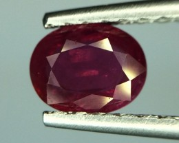 Gil Certified Ruby Unheated Faceted Gemstone