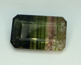 7.28 Crt Natural Watermelon Tourmaline Faceted Gemstone (982)