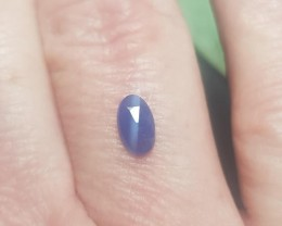 7 by 4mm Blue Sapphire rose cut oval gemstone