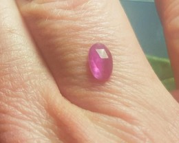 RESERVED FOR CUSTOMER 7 by 4mm Pinkish Purple Sapphire