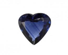 0.97cts Natural Australian Blue Sapphire Heart  Cut