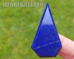 49mm Lapis Lazuli blue free form pentagon irregular faceted cabochon 49 by