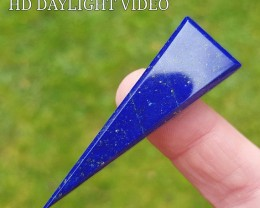 55mm Lapis Lazuli blue arrrow shape cabochon 55 by 18 by 7mm AAA Grade