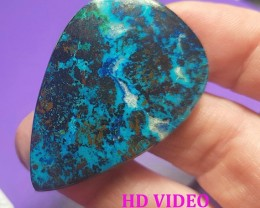 41mm Chrysocolla turqoise gem silica oval Cabochon 39ct