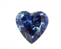 1.26cts Natural Australian Blue Sapphire Heart Shape