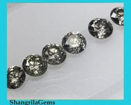28 2mm Salt and Pepper brilliant cut diamonds 1ct