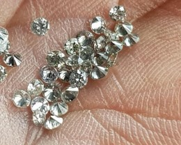 36 1.8mm Salt and Pepper diamonds 1ct AA grade