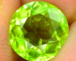 No Reserve - 2.25 cts Round Cut Natural Olivine Green Natural Peridot Gemst