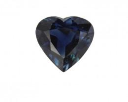 1.22cts Natural Australian Blue Sapphire Heart Shape