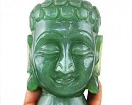 Genuine 3405.00 Cts Aventurine Buddha Head