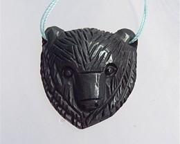 97.5ct New Design Craved Bear Hematite Pendant(18042502)