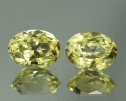 2.06 CT  TOP QUALITY NATURAL SILLIMANITE PAIR - SLP29