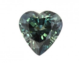 1.49cts Natural Australian Blue Parti Sapphire Heart Shape