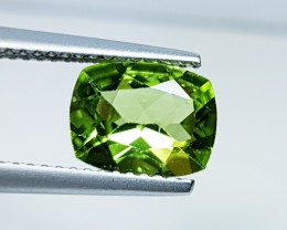 "2.00 ct ""IGI Certified "" Lovely Gem Cushion Cut Natural Peridot"