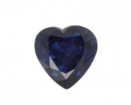 1.53cts Natural Australian Blue Sapphire Heart Shape