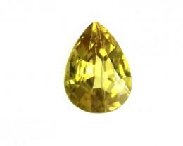 0.36cts Natural Australian Yellow Sapphire Pear Shape