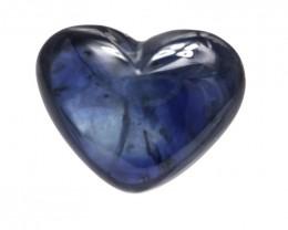3.55cts Natural Australian Blue Sapphire Heart Cabochon Shape