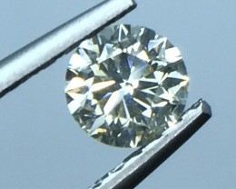 0.74 CT WHITE DAIMOND CERTIFIED SPARKLING LUSTER