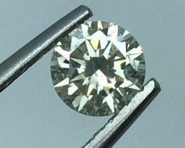 0.81 CT WHITE DAIMOND CERTIFIED WITH TOP LUSTER GEMSTONE